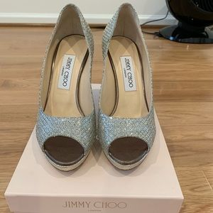 Jimmy Choo Luna Peep Toe Pumps